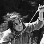 Fot. Seweryn Bidziński: Wspinaczka na Krzywej Turni, lata sześćdziesiąte XX w.